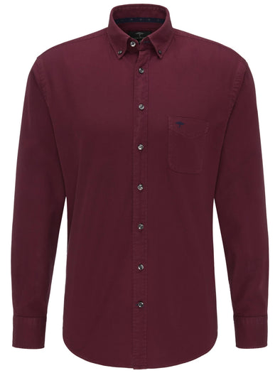 Fynch-Hatton Indian Red Soft Garment Dyed Shirt