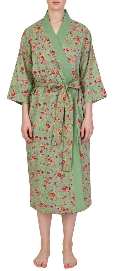 Gabrielle Parker Kimono Rumbling Rose in Green
