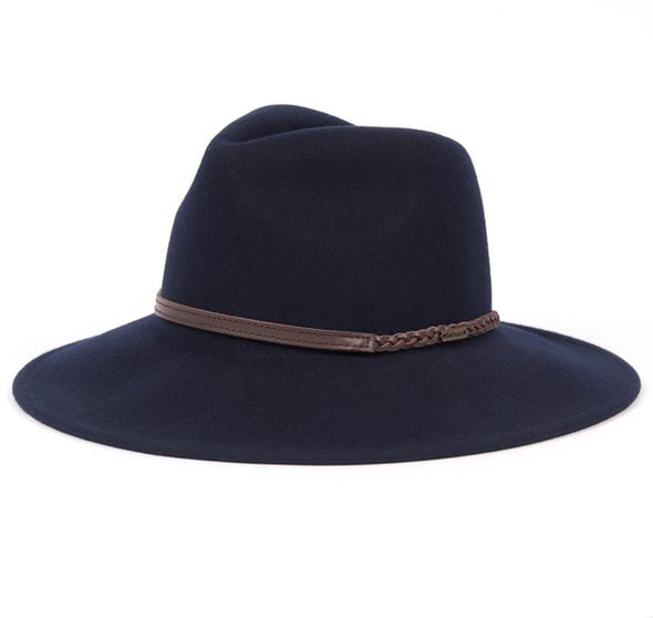 Barbour Tack Fedora Navy Hat