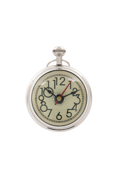 "London Ornaments Magnified Clock 3"" Cream Face"