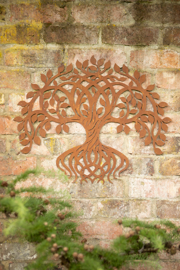 London Ornaments Metal Twisting Tree Wall Plaque
