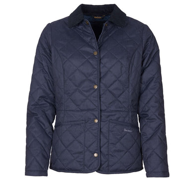 Barbour Huddleson Quilted Jacket in Navy