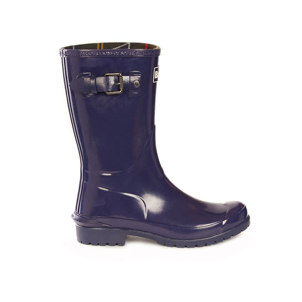 Barbour Mid Length Blue Wellingtons