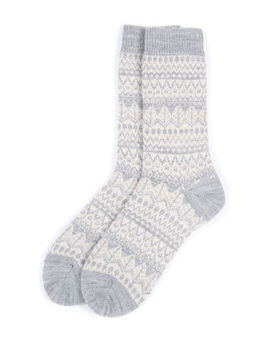 Barbour Alpine Fairisle Grey Socks