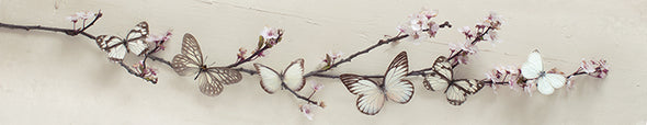 Pyramid International - Ian Winstanley (Butterflies on Blossom) Wooden Sign