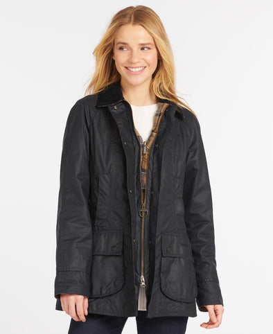 Barbour Beadnell Navy Wax