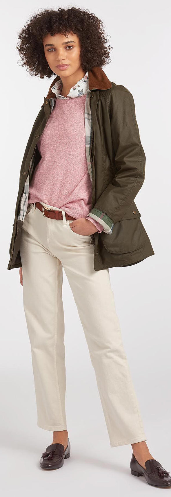 Barbour Aintree Olive Wax