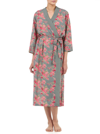 Gabrielle Parker Long Cotton Kimono Dressing Gown