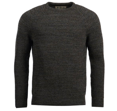 Barbour Olive Horseford Crew Neck Jumper