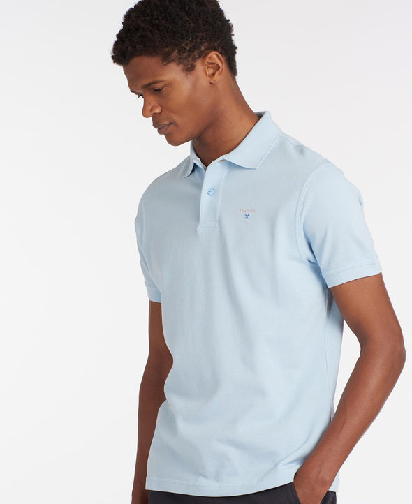 Barbour Sports Sky Blue Polo Top