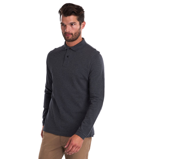Barbour Long Sleeved Sports Polo Top