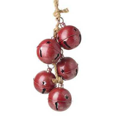 HEAVEN SENDS - Rope Decoration With Red Metal Bells