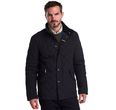 Barbour Shoveler Navy Quilted Jacket