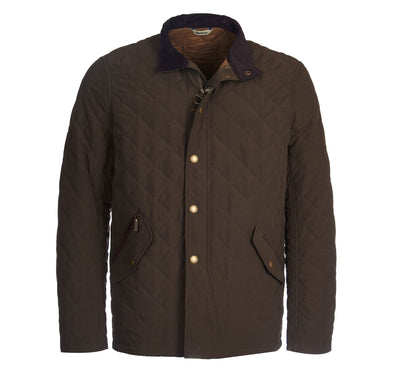 Barbour Shoveler Coat in Dark Olive