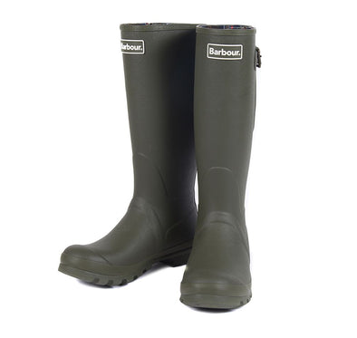 Barbour Amble Olive Green Wellington Boots