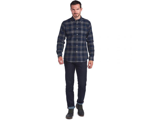 Barbour Highland Check 19 Tailored Fit Shirt in Grey
