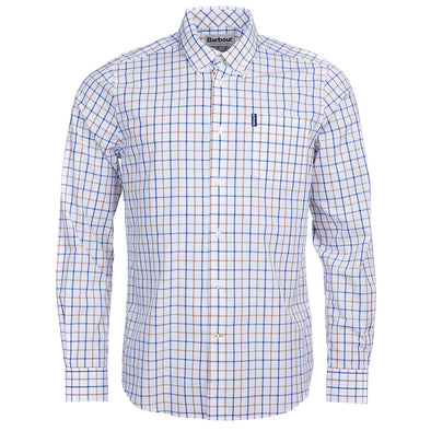 Barbour Tattersall Tailored Shirt in Stone