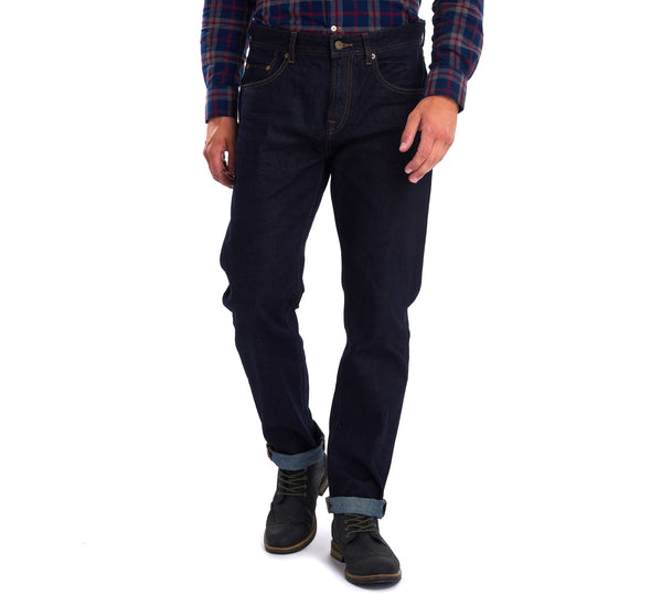 Barbour Regular Fit Jeans Rinse Wash