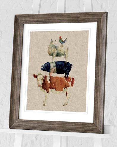 Pyramid International - Jane Bannon (Farmyard Fun)  Pre-Framed Print