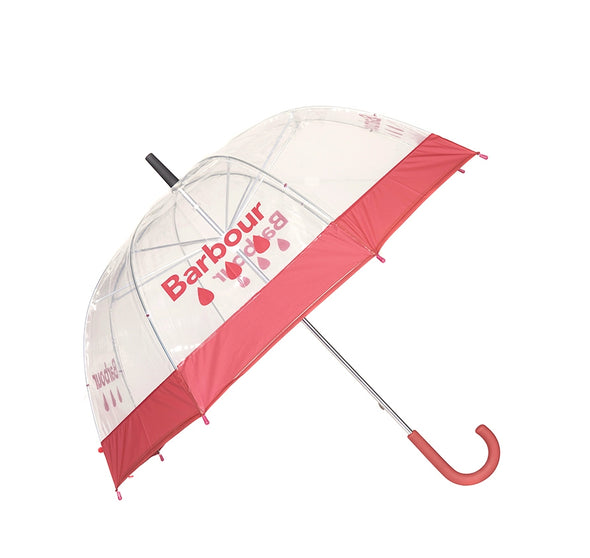 Barbour Red Raindrop Umbrella