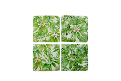 London Ornaments Ceramic Palm Coasters Set Of 4