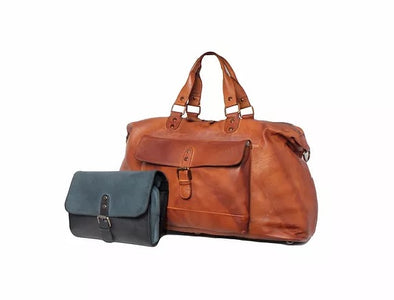 Ashwood Leather Spitafields Tan Weekend Holdall