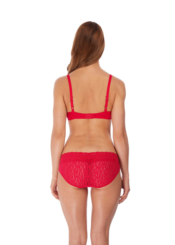 Wacoal Halo Lace Lipstick Red Soft Cup Bra