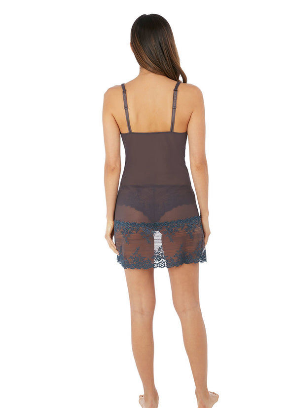 Wacoal Grey and Blue Embrace Lace Chemise