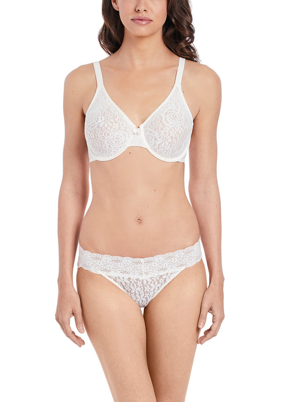 Wacoal Halo Lace Ivory Moulded Underwire Bra