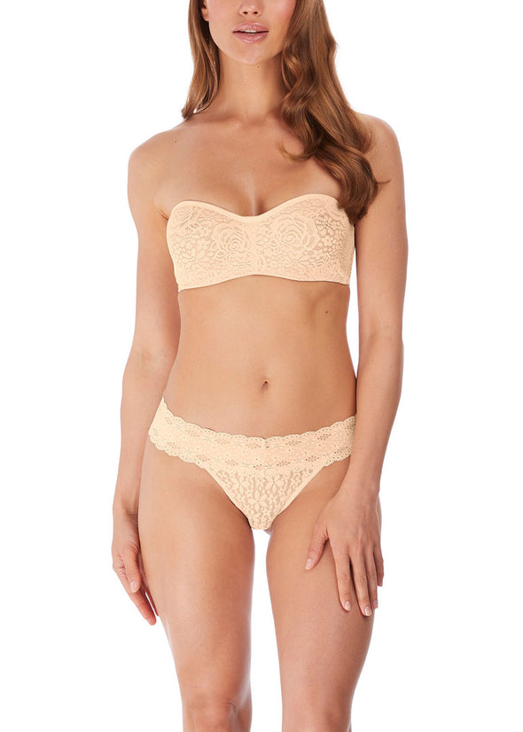 Wacoal Halo Lace Nude Strapless Bra