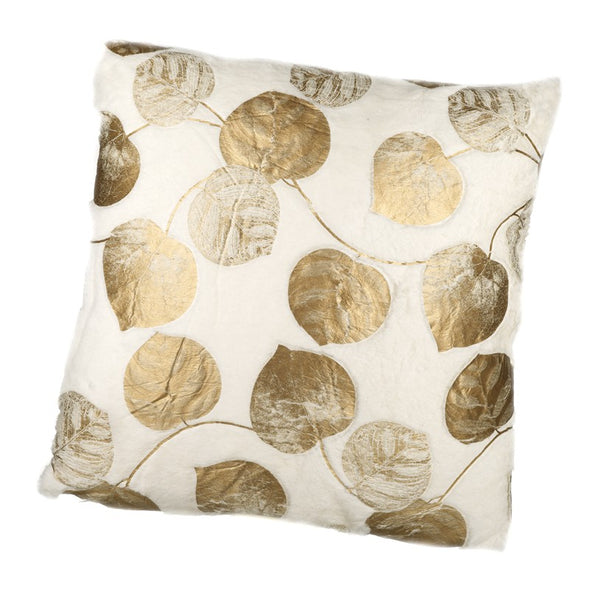 HEAVEN SENDS - Gold Leaf Printed Cushion