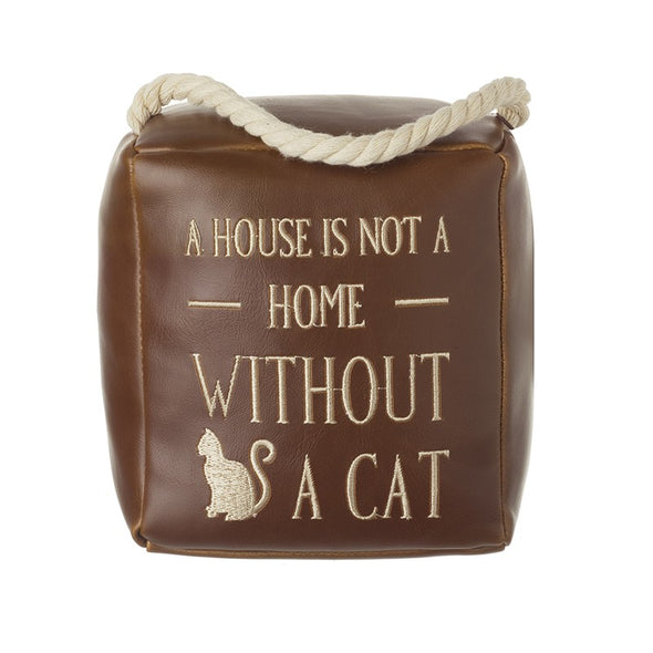 HEAVEN SENDS - A House Is Not A Home Cat Door Stop