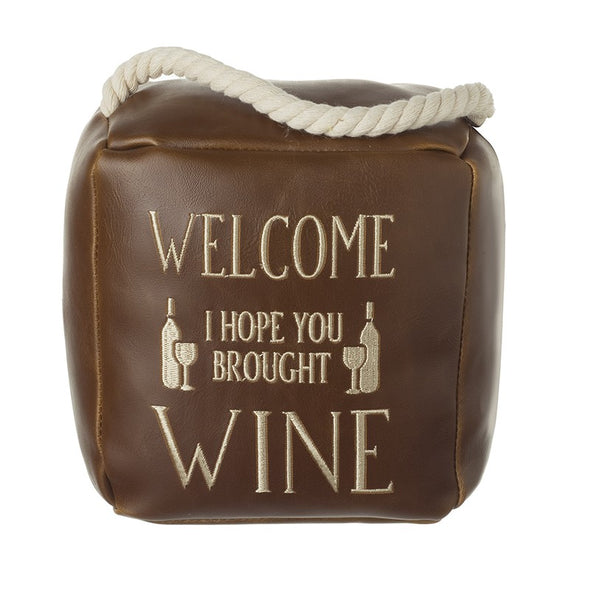 HEAVEN SENDS - Welcome Wine Door Stop