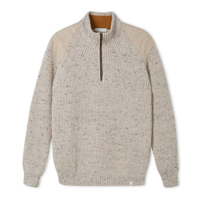 Peregrine Men's Foxton Zip Neck - Oatmeal