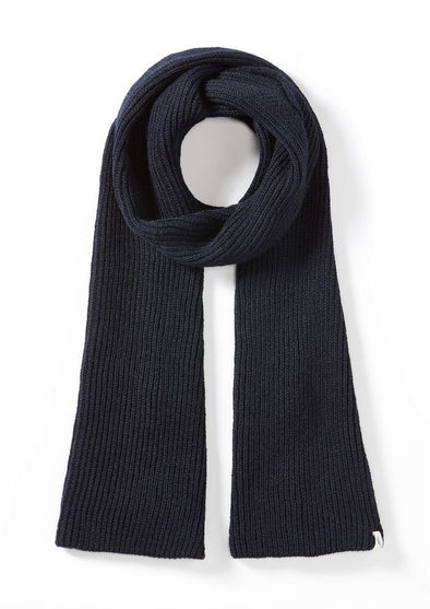 Peregrine Men's Porter Ribbed Scarf - Navy