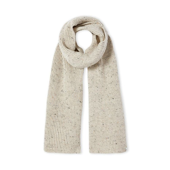 Peregrine Men's Porter Ribbed Scarf - Oatmeal