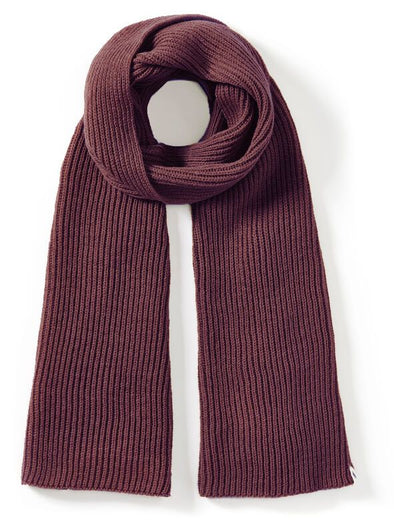 Peregrine Men's Porter Ribbed Scarf - Shiraz