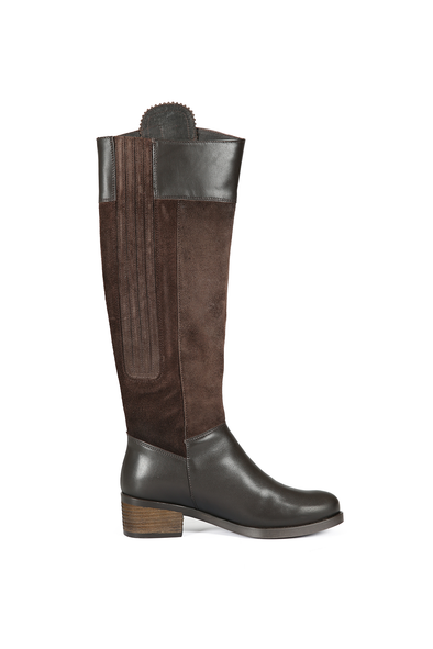 Welligogs Mayfair Leather Chocolate and Suede Waterproof Boots