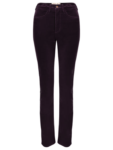 Amazing Woman Velvet Trousers Aubergine