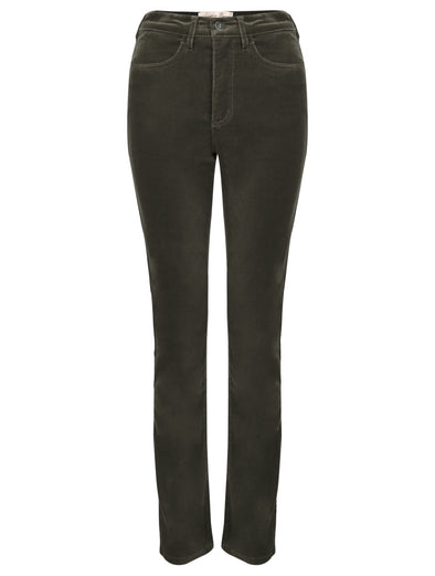 Amazing Woman Olive Velvet Trousers