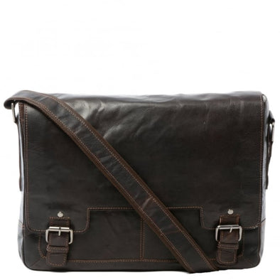 Ashwood 8343 Messenger Bag in Crumble Brown
