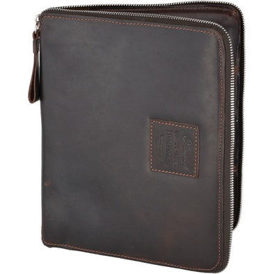 Ashwood Leather Kingsbury Brown Tablet Organiser