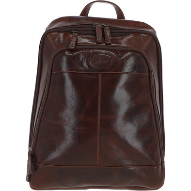 Unisex Ashwood Mayfair Hi Veg Leather Backpack Tempo Brown
