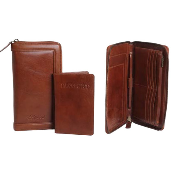 Ashwood Chestnut Travel Wallet in Chestnut
