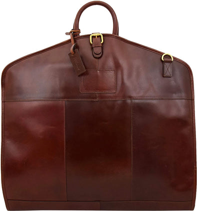 Ashwood Leather Harper Brandy Folded Suit Carrier