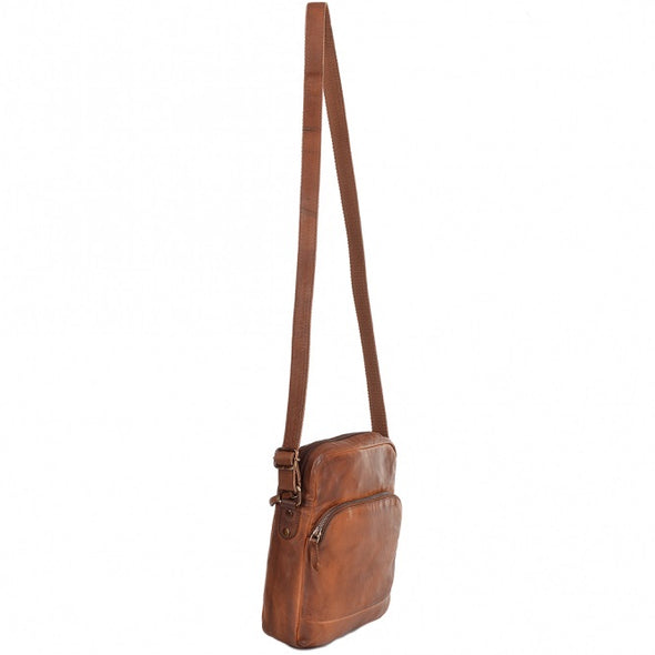 Ashwood Leather Spitafields Medium Tan Body Bag