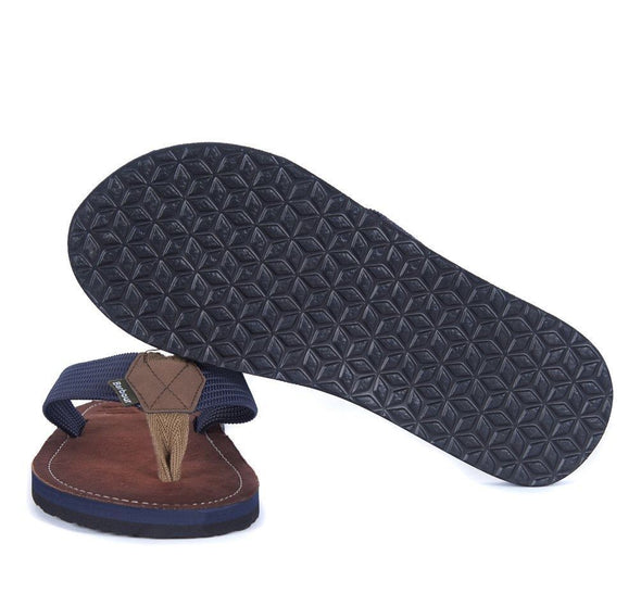 Barbour Toeman Navy Sandals