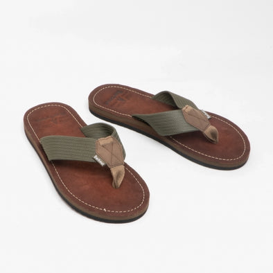 Barbour Toeman Olive Sandals