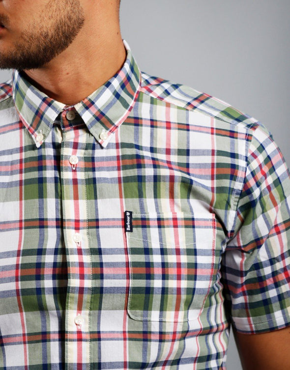 Barbour Short Sleeved Shirt Madras 5 Tailored