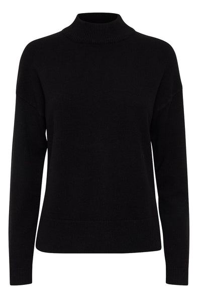 B Young Bynonina Black Turtle Neck Jumper